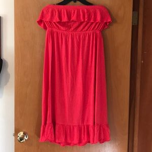 Old navy strapless ruffle dress